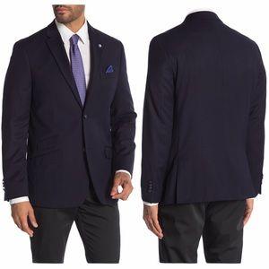 Ben Sherman Navy Two Button Notch Lapel Sport Coat